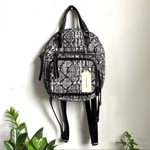 NEW Max Studio Snakeskin Black/White Mini Backpack